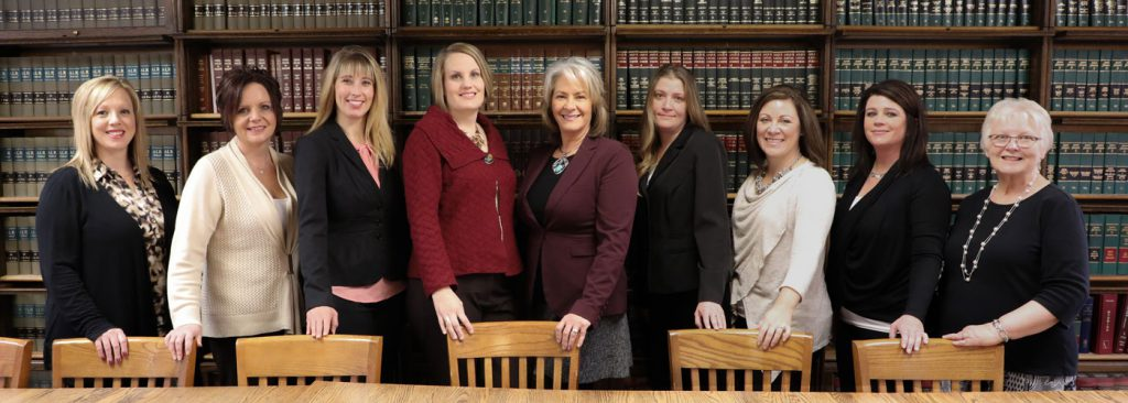 Firm support staff picture in law library